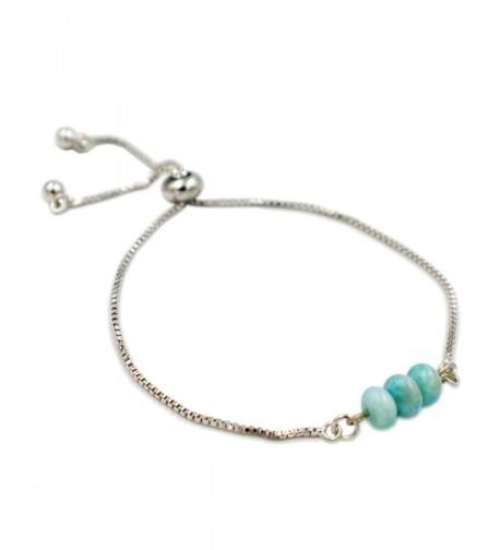 Natural Stone Larimar Chain Bracelet