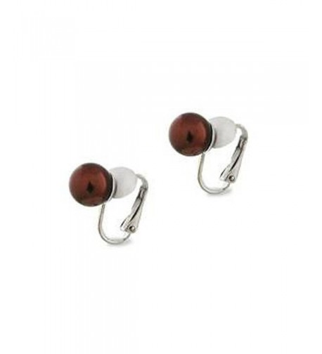 Classic Chocolate Color Clip Earrings