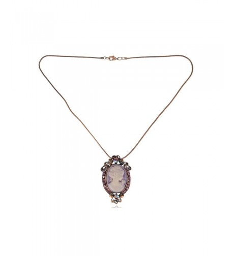 Alilang Rhinestones Vintage Inspired Necklace
