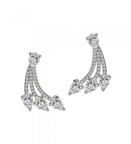 SELOVO Womens Zirconia Earrings Jacket