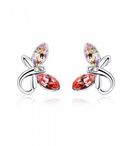 HERLINA Dragonfly Earrings Swarovski Crystals