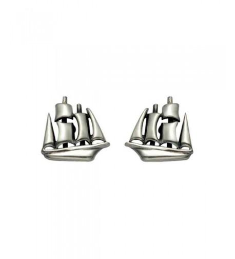 Small Sterling Silver Clipper Earrings
