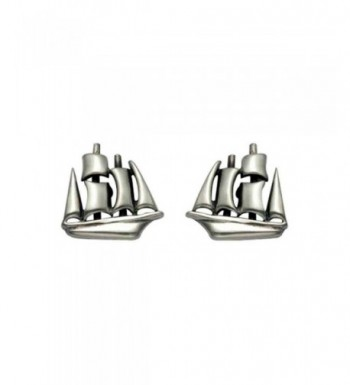 Small Sterling Silver Clipper Earrings