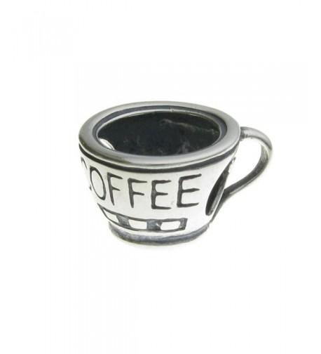 Sterling Silver Coffee European Bracelet