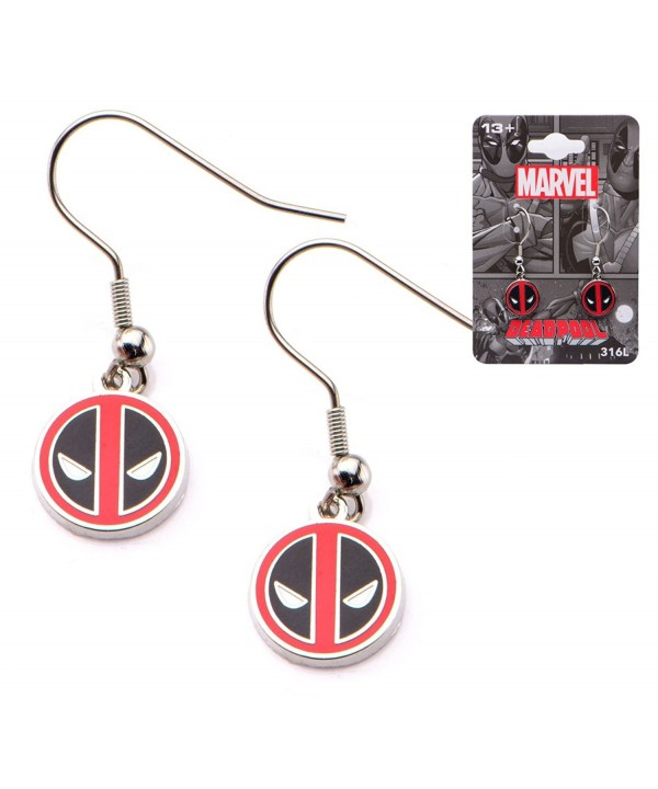 Officially Licensed Deadpool Stainless Earrings
