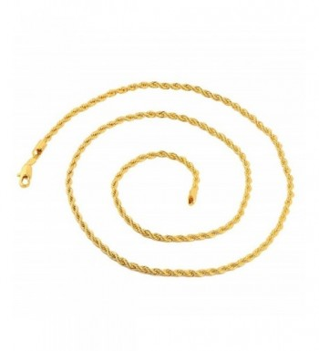 Yellow Gold 3 5mm Chain Necklace