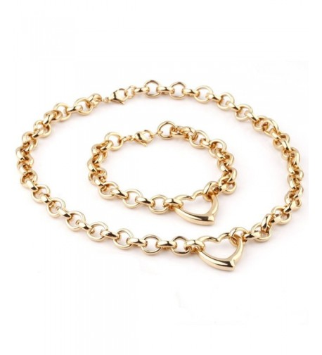Stainless Womens Necklace Bracelet Jewelry