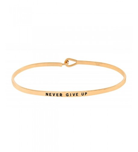 Inspirational Encouraging Engraved Bangle Bracelet