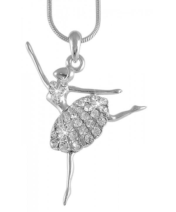 Ballerina Ballet Dancer Pendant Necklace
