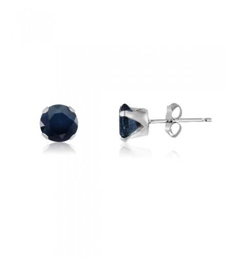 Sterling Genuine Sapphire Earrings included
