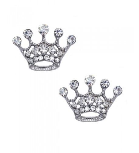 cocojewelry Queen Princess Crown Earrings