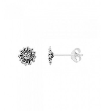 Tiny Sterling Silver Flower Earrings