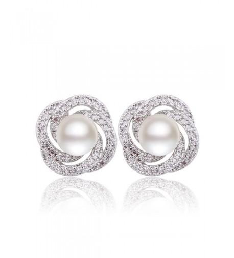 GULICX Simulated Bridesmaid Pierced Earrings