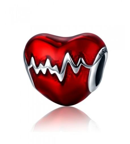 Sterling Silver Heartbeat Enamel enamel