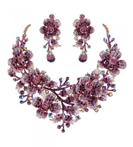 EVER FAITH Necklace Earrings Gold Tone