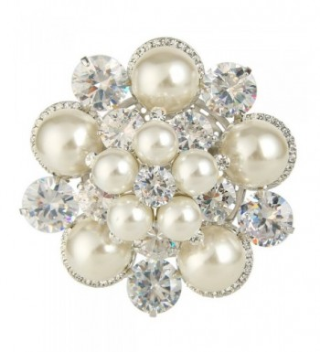 EleQueen Silver tone Simulated Snowflake Christmas