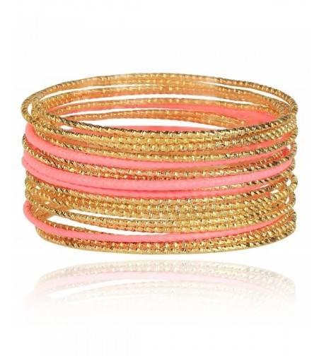 Lux Accessories Textured Bangle Bracelet