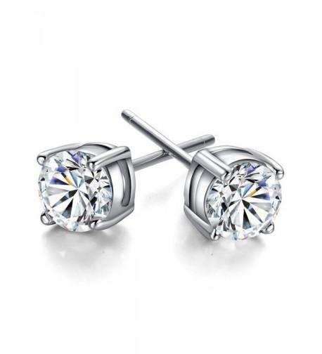 3 10mm Sterling Silver Zirconia Earring