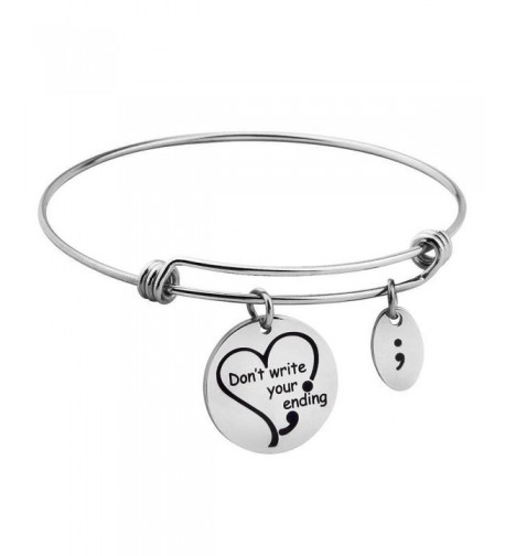 Ending Engraved Bangle Awareness Bracelet