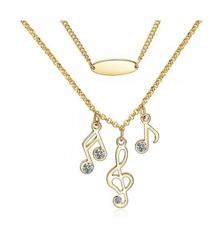 CONNIE Y Plated Fashion Necklace Musical