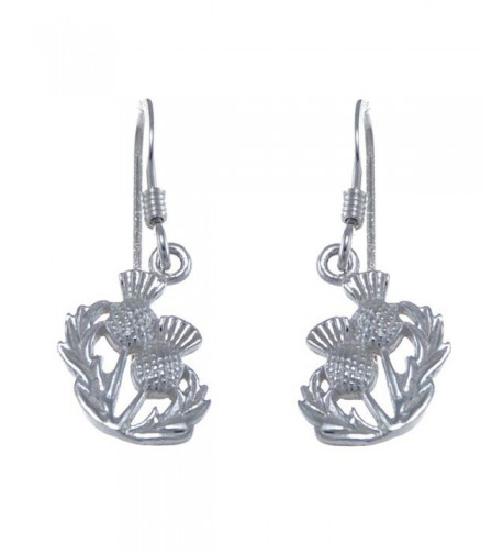 Sterling Silver Earrings Double Thisle