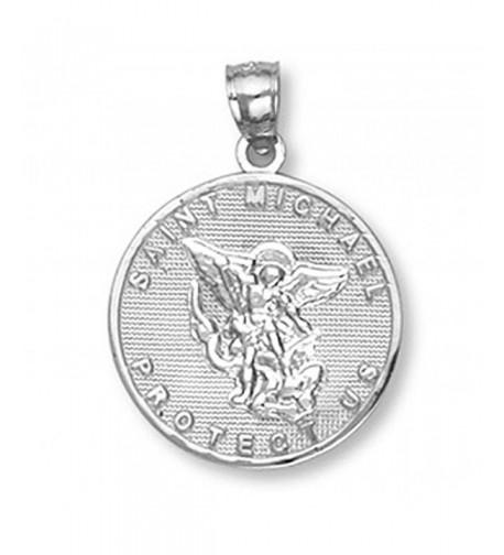 Sterling Saint Michael Protection Pendant