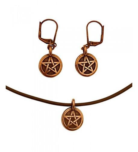 DragonWeave Pentagram Necklace Earring Adjustable