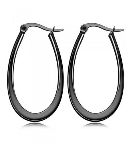 MOWOM Stainless huggie Teardrop Earrings