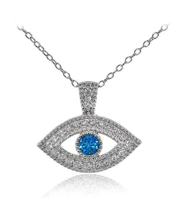 Sterling Silver London Zirconia Necklace