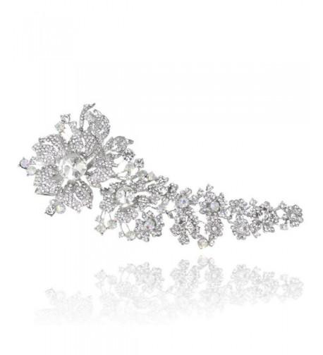 EVER FAITH Austrian Crystal Silver Tone