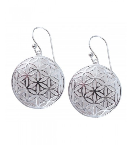 Flower Sterling Silver Geometry Earrings