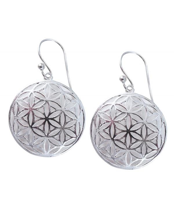 Flower Sterling Silver Geometry Earrings