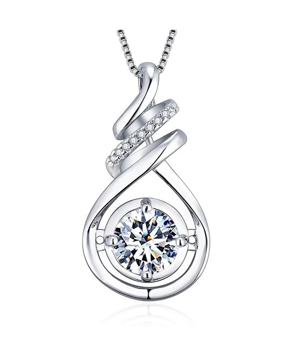 Sterling Zirconia Pendant Necklaces Women 18