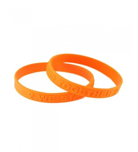 Orange Awareness Embossed Silicone Bracelets