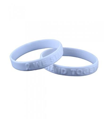 Awareness Embossed Silicone Bracelet bracelets