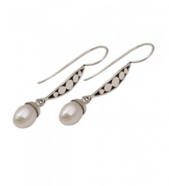 NOVICA Cultured Freshwater Sterling Earrings