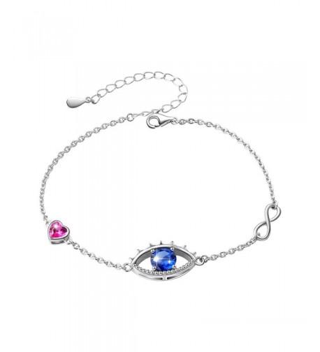Sterling Silver Hamsa Infinity Bracelet