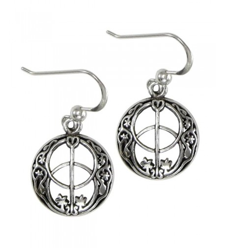 Sterling Silver Chalice Earrings Feminine