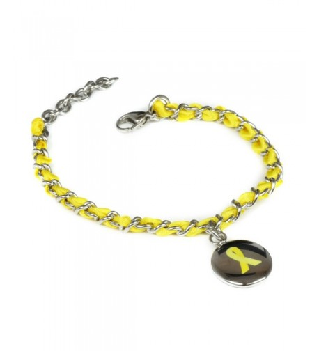 MyIDDr Yellow Awareness Bracelet Woven