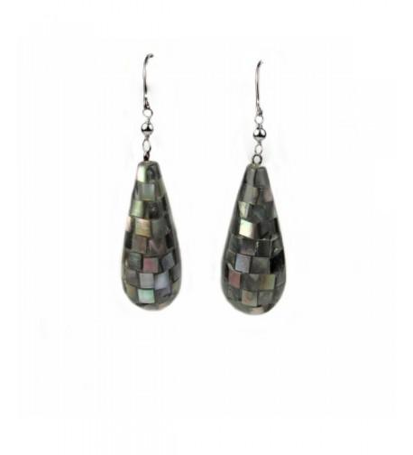 Regalia Abalone Teardrop Earrings Assembled