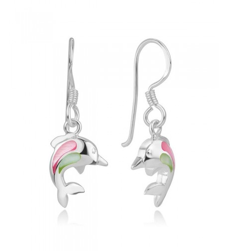 Sterling Silver Dolphin Porpose Earrings