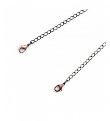 Antiqued Copper Necklace Extender Lobster