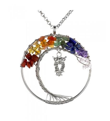 Vintage Necklace Gemstones Pendant Handmade