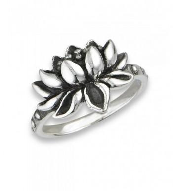 925 Sterling Silver Lotus Flower
