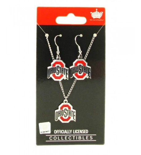 State Buckeyes Earring Necklace Pendant