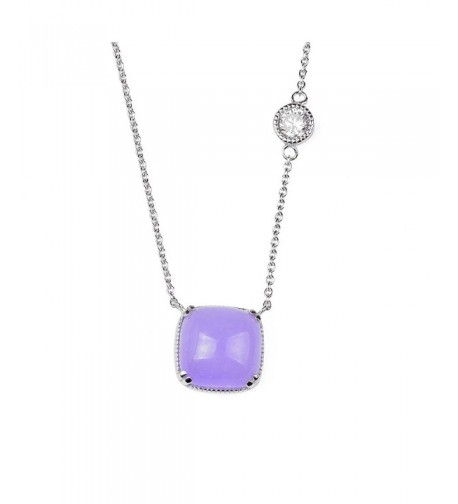 Sterling Lavender Zirconia Inspired Necklace