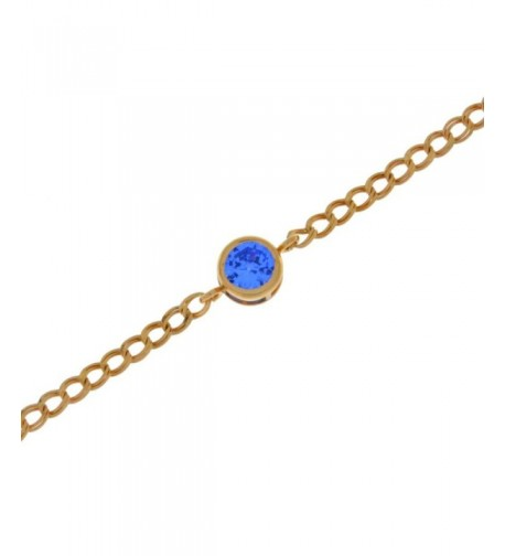 Simulated Tanzanite Bracelet Plated Sterling