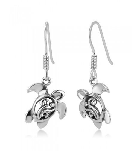 Oxidized Sterling Filigree Dangling Earrings