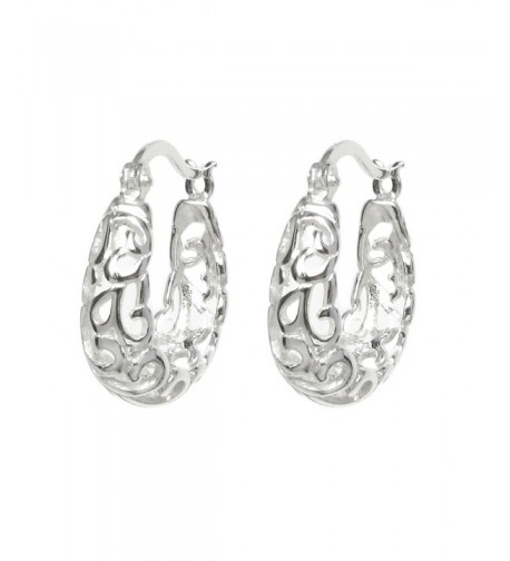 Sterling Silver Filigree Flower Earring