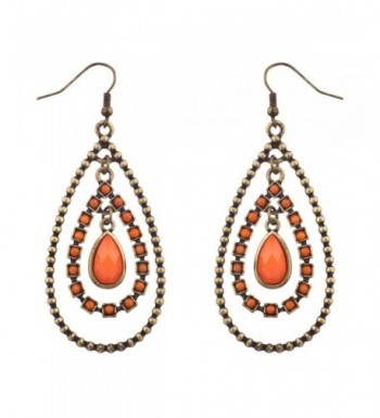 Lux Accessories Burnished Statement Earrings
